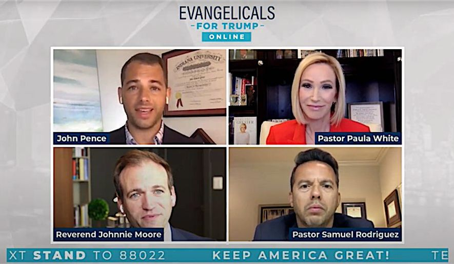 A forum organized by President Trump's reelection campaign featured evangelical leaders who reaffirmed their support for the president. (Donald J. Trump for President, Inc.)