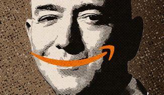 Amazon Profits Illustration by Greg Groesch/The Washington Times