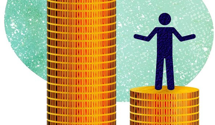 Pay Gap Illustration by Greg Groesch/The Washington Times