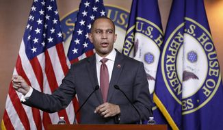 Democratic Caucus Chairman Rep. Hakeem Jeffries of N.Y., speaks during a news conference on Capitol Hill in Washington, Monday, June 29, 2020. (AP Photo/Patrick Semansky)