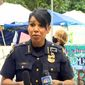 """Seattle Police Chief Carmen Best talks to reporters about violence in the """"Capitol Hill Organized Protest"""" (CHOP) zone, June 29, 2020. (Image: YouTube, King-5, NBC Seattle video screeshot)"""
