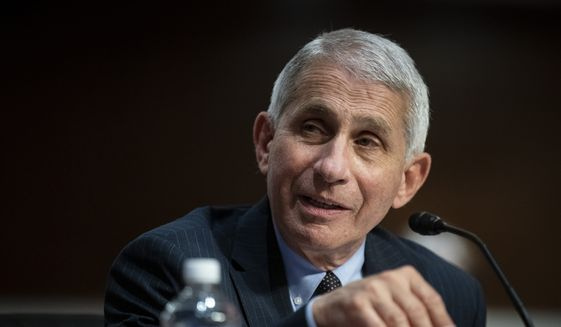 Director of the National Institute of Allergy and Infectious Diseases Dr. Anthony Fauci speaks during a Senate Health, Education, Labor and Pensions Committee hearing on Capitol Hill in Washington, Tuesday, June 30, 2020. (Al Drago/Pool via AP) ** FILE **