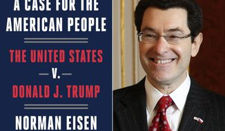 "This combination photo shows the cover image for ""A Case for The American People: The United States v. Donald J. Trump"" by Norman Eisen, left, and a 2011 file photo of Eisen. The book by Eisen, former special counsel for the House Judiciary Committee, will be on sale nationwide on July 28, 2020. (Crown via AP)"