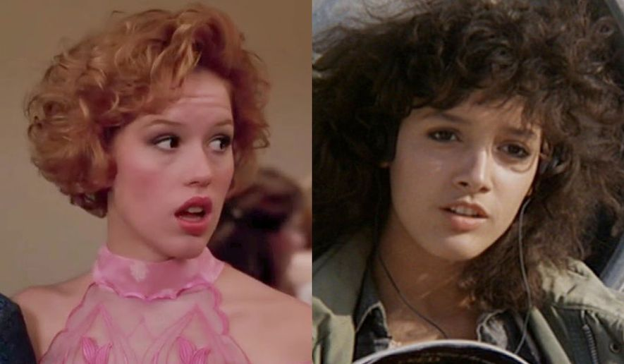 "Molly Ringwald in ""Pretty in Pink"" and Jennifer Beals in ""Flashdance,"" both films are part of the Paramount Presents Blu-ray collection."