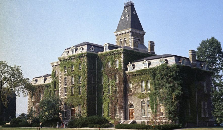 In this Aug. 28, 1973, file photo, McGraw Hall stands on the campus of Cornell University in Ithaca, N.Y. (AP Photo/Jonathan Jay Fink) ** FILE **