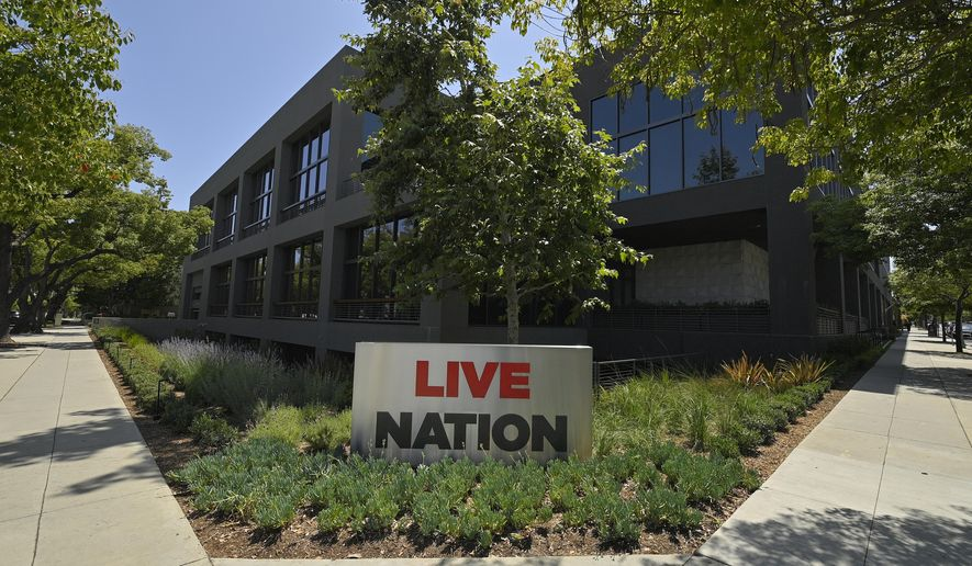 "The headquarters of Live Nation is viewed Monday, June 29, 2020, in Beverly Hills, Calif. America's nightclubs are largely closed because of the coronavirus pandemic, but that isn't stopping an interfaith coalition from launching a campaign to stop what organizers call the ""disrespectful"" use of Buddhist and Hindu statues as upscale decor. Representatives of the Buddhist, Hindu, Jain, Jewish and Christian traditions have formed an improbable alliance to end the practice, starting with upmarket clubs in Boston and other cities that are managed by Live Nation, a Beverly Hills, California-based entertainment conglomerate. (AP Photo/Mark J. Terrill)"