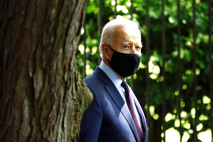Some analysts predict Joseph R. Biden's presidential campaign may soon lurch left, which could alarm voters. (Associated Press)