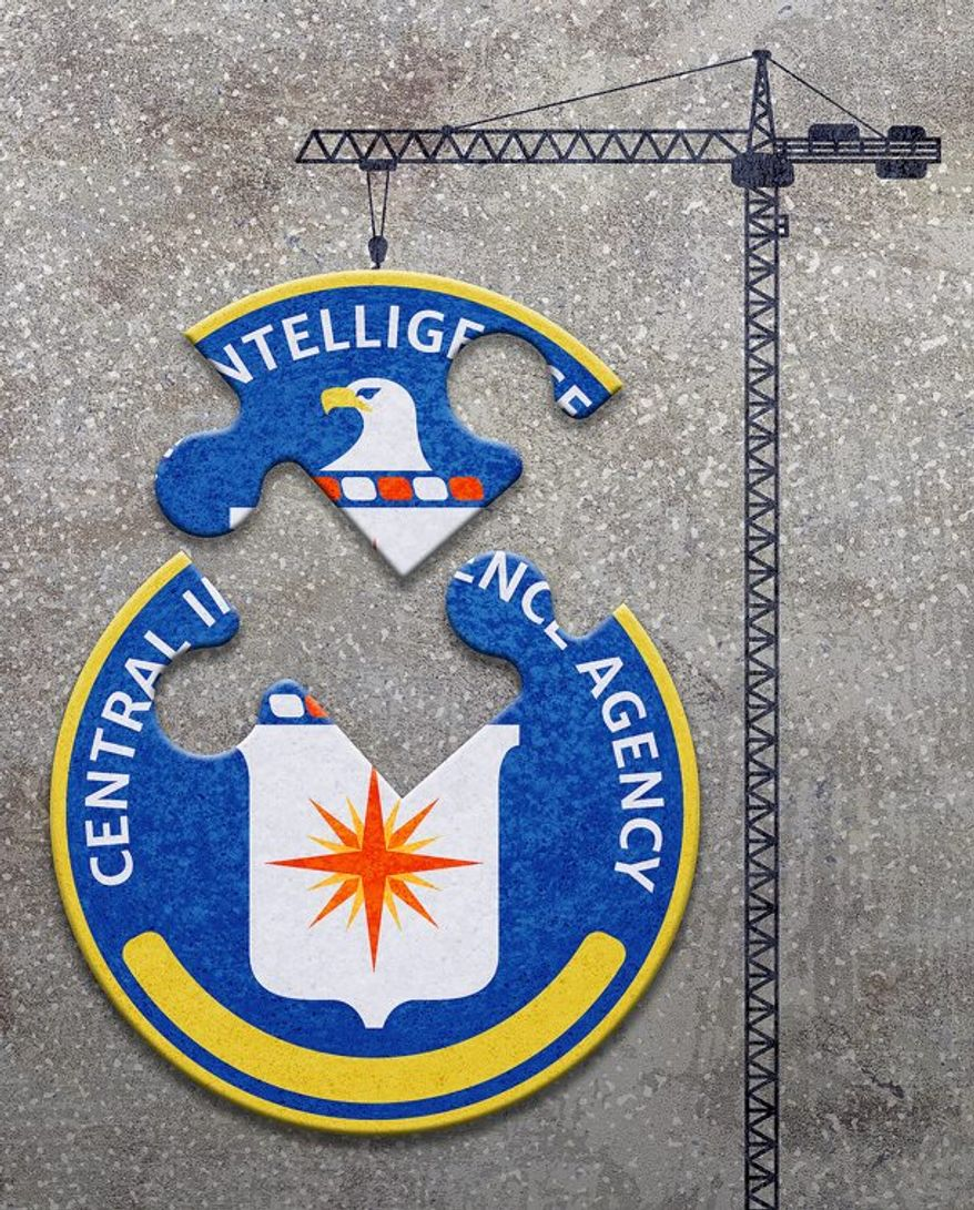 CIA Rebuilding Illustration by Greg Groesch/The Washington Times