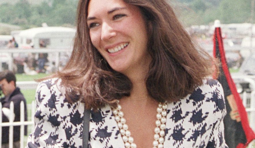In this June 5, 1991, file photo, British socialite Ghislaine Maxwell arrives at Epsom Racecourse. The FBI said Thursday, July 2, 2020, Ghislaine Maxwell, who was accused by many women of helping procure underage sex partners for Jeffrey Epstein, has been arrested in New Hampshire. (Chris Ison/PA via AP, File)