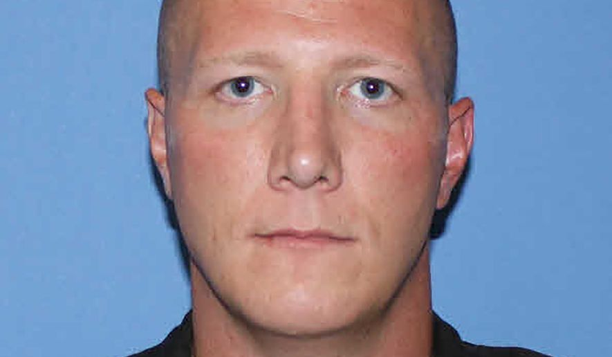 This undated photo provided by the Hamilton County Sheriff's Office, in Ohio, shows Sgt. Jesse Franklin. Franklin was indicted Thursday, July 2, 2020, and charged with kicking a restrained man in the head as the offender was being admitted into the county jail. (Hamilton County Sheriff's Office via AP)