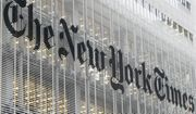 This Wednesday, Oct. 10, 2012 file photo shows the New York Times logo on the company's building in New York. (AP Photo/Richard Drew) ** FILE **