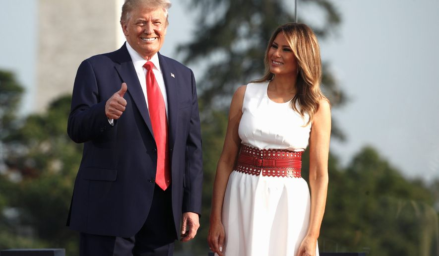 A forecasting model based on presidential primary voting patterns now predicts President Trump has a 91% chance of winning the election. (Associated Press)