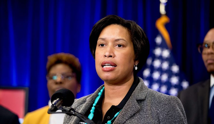 D.C. Mayor Muriel Bowser on Monday said the city is plagued by another epidemic besides the coronavirus after three people, including an 11-year-old boy, were fatally shot in the District over the Fourth of July weekend. (Associated Press)