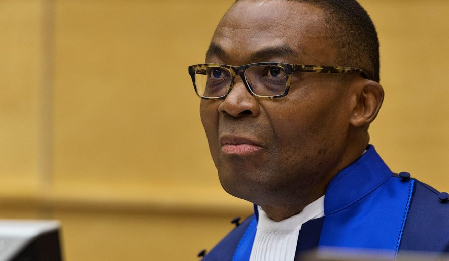 International Criminal Court President Chile Eboe-Osuji says the U.S. would have to adjust its attitude if it were to forge a productive relationship. (ASSOCIATED PRESS)