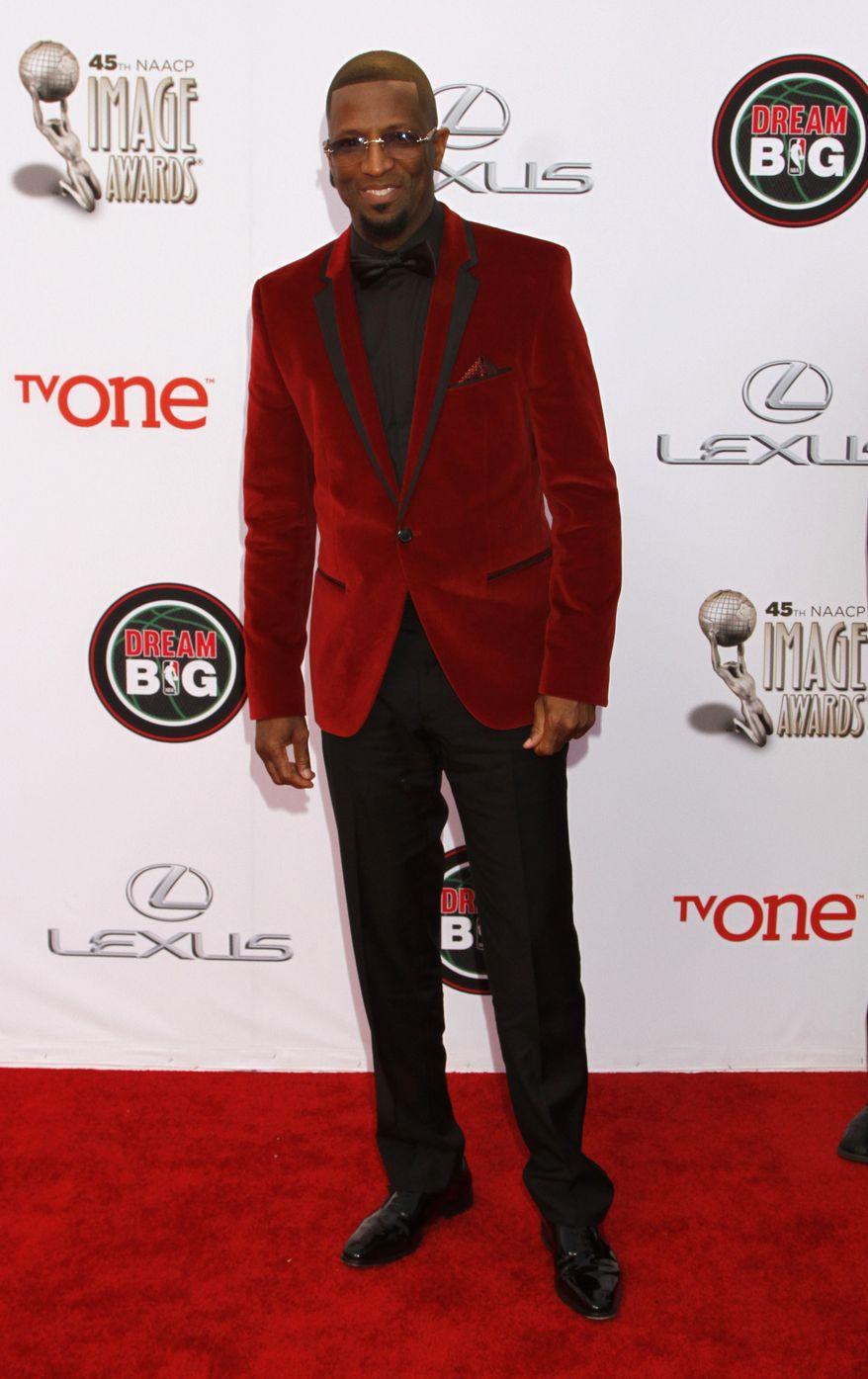 Rickey Smiley arrives at the 45th NAACP Image Awards at the Pasadena Civic Auditorium on Saturday, Feb. 22, 2014, in Pasadena, Calif. (Photo by Arnold Turner/Invision/AP) ** FILE **