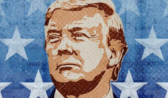 Trump the Patriot Illustration by Greg Groesch/The Washington Times