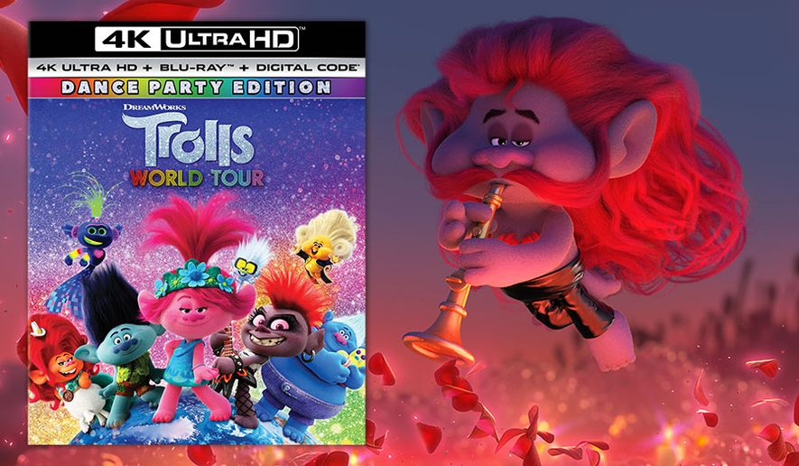 """Smooth Jazz Troll Chaz from """"Trolls World Tour: Dance Party Edition,"""" now available on 4K Ultra HD from Universal Studios Home Entertainment."""