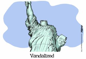 Vandalized