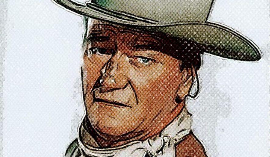 John Wayne Portrait by Greg Groesch/The Washington Times