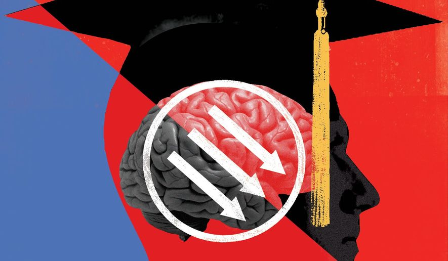 Antifa scorns university diversity illustration by The Washington Times