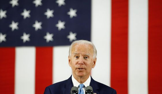 Some polls now suggest Democratic presidential candidate Joseph R. Biden's lead over President Trump is starting to erode. (Associated Press)