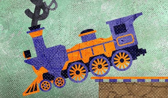 Texas Train Wreck Illustration by Greg Groesch/The Washington Times