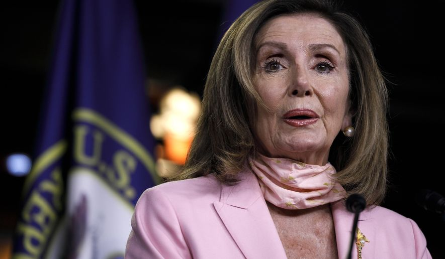 House Speaker Nancy Pelosi of Calif., speaks during a news conference, Thursday, July 9, 2020, on Capitol Hill in Washington. (AP Photo/Jacquelyn Martin)
