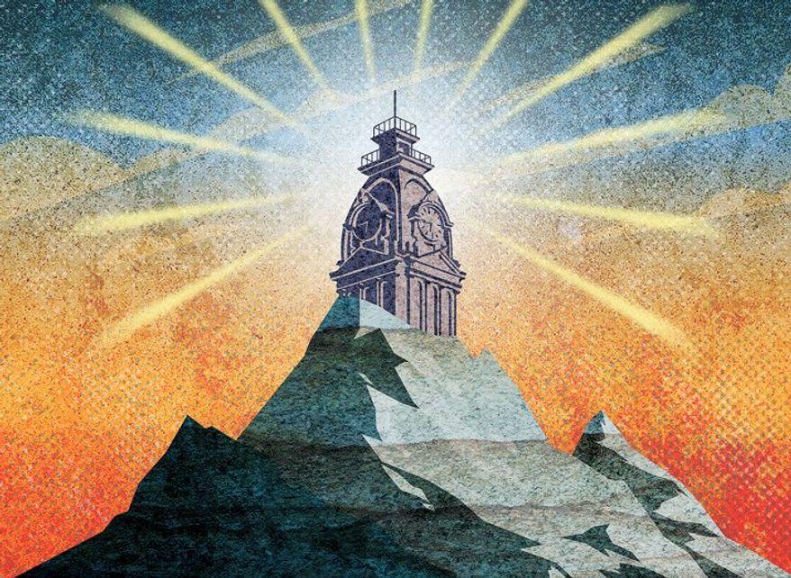 Hilltop Beacon Illustration by Greg Groesch/The Washington Times