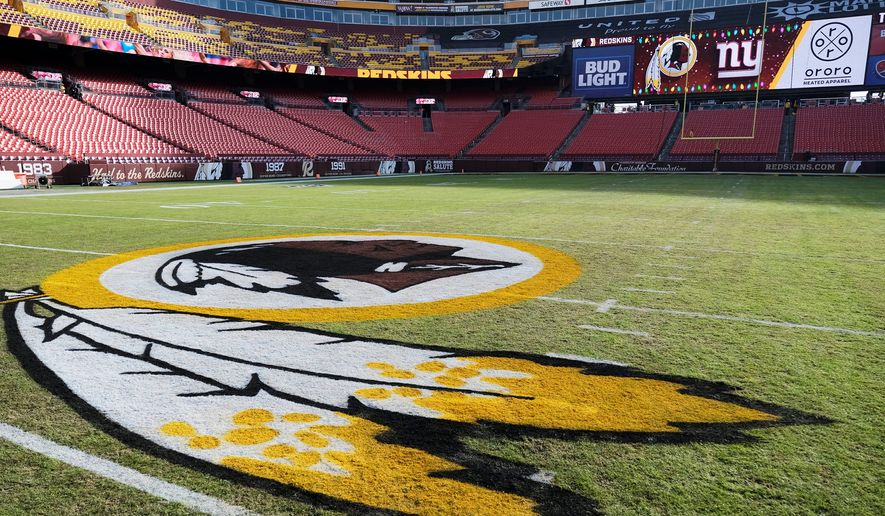 FedEx Field will not look the same this season without the Redskins logo. Washington, caught in the undertow of a nationwide reckoning on race and history, has put an end to the nickname that has stood for 87 years. (Associated Press)