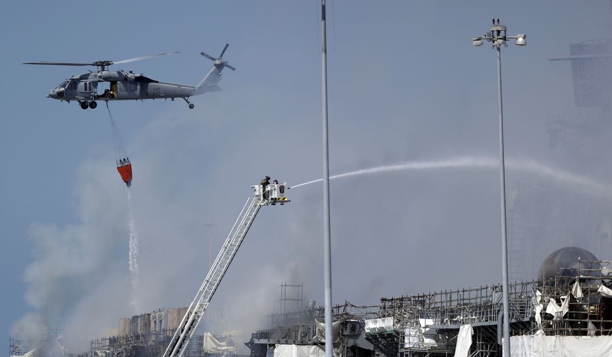 USS Bonhomme Richard fire suppression system was inoperable,...