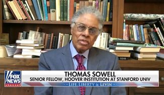 """Economist and libertarian conservative philosopher Thomas Sowell warned Sunday, July 12, 2020, that the country could reach the """"point of no return"""" if presumptive Democratic presidential nominee Joe Biden wins the election and ushers in the radical left. (screen grab via Fox News)"""