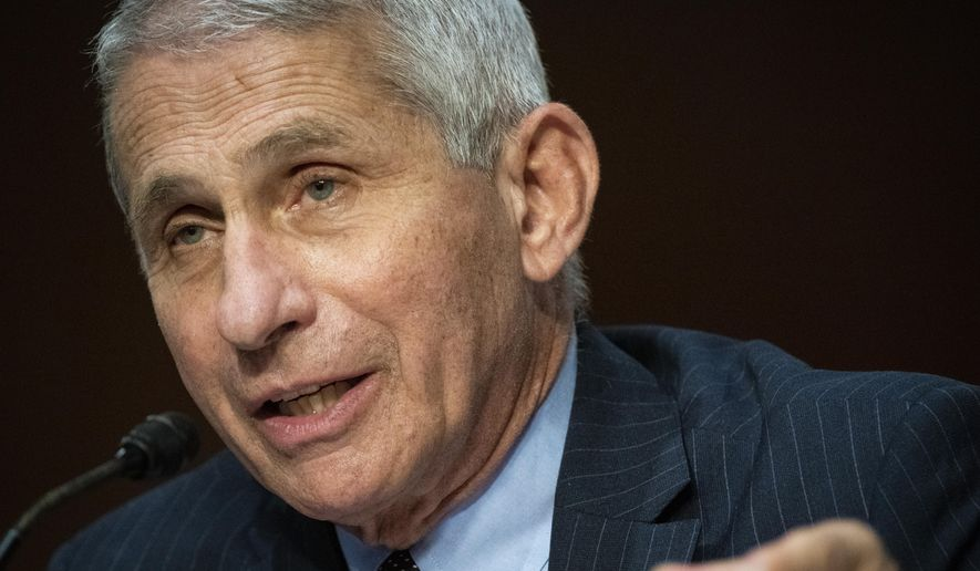Director of the National Institute of Allergy and Infectious Diseases Dr. Anthony Fauci speaks during a Senate Health, Education, Labor and Pensions Committee hearing on Capitol Hill in Washington, Tuesday, June 30, 2020. (Al Drago/Pool via AP) **FILE**