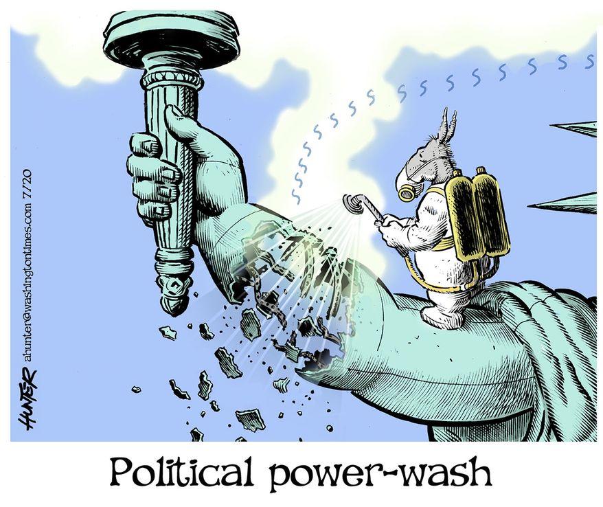 Illustration by Alexander Hunter for The Washington Times (published July 14, 2020)