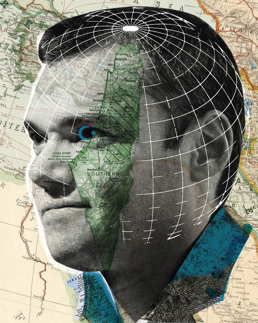 Illustration on Peter Beinart by Linas Garsys/The Washington Times