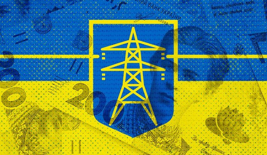 Ukraine Power Grid Illustration by Greg Groesch/The Washington Times