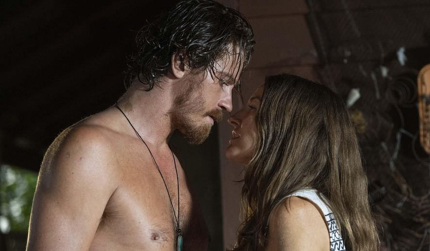 "This image released by Samuel Goldwyn Films shows Garrett Hedlund, left, and Kelly Macdonald in a scene from ""Dirt Music."" (Samuel Goldwyn Films via AP)"