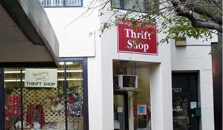 The Montgomery County Thrift Shop in Bethesda joins a growing list of area stores and restaurants that have been unable to reopen now that the coronavirus shutdown orders are being lifted. (Photo by Jan Cary)