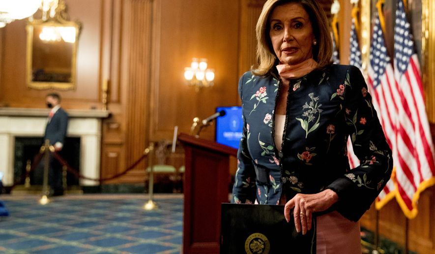 House Speaker Nancy Pelosi said the clock is ticking on the Senate passing the House's $3 trillion coronavirus recovery package, dubbed the HEROES Act. (Associated Press)