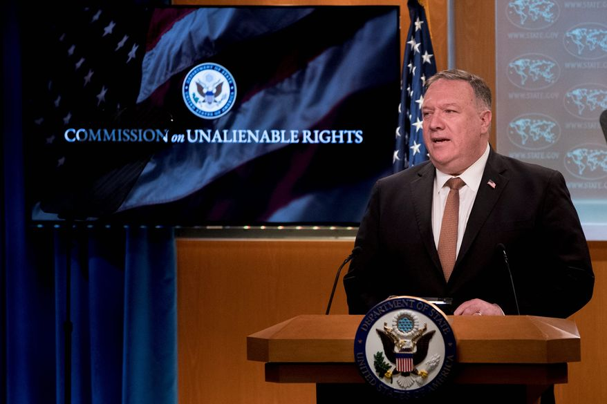 Secretary of State Mike Pompeo announced new restrictions on Chinese telecommunications executives on Wednesday. The move specifically targets the controversial company Huawei. (Associated Press)
