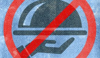 No Food Service Illustration by Greg Groesch/The Washington Times