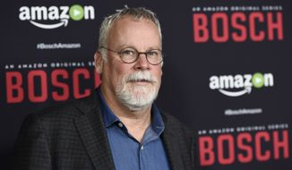 "Michael Connelly, creator and co-writer of ""Bosch,"" poses at the season two premiere of the Amazon original series at the Pacific Design Center on Thursday, March 3, 2016, in West Hollywood, Calif. The show takes its inspiration from Connelly's novels ""City of Bones,"" ""Echo Park"" and ""The Concrete Blonde."" (Photo by Chris Pizzello/Invision/AP)"