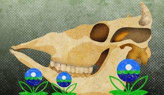 Dairy Farm Killer Illustration by Greg Groesch/The Washington Times