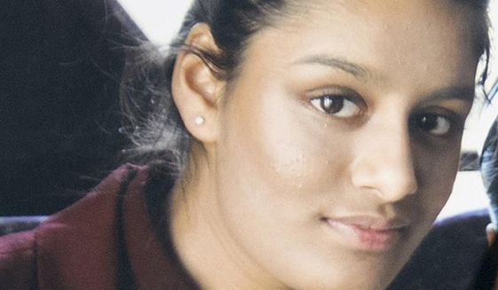 This undated photo shows Shamima Begum, one of three east London schoolgirls who traveled to Syria in 2015 to join the Islamic State group. (PA via AP) ** FILE **
