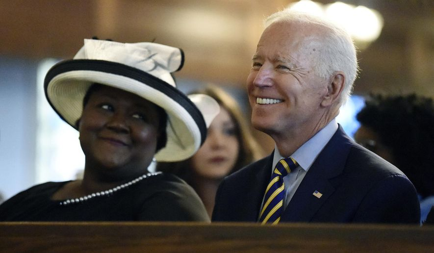Democratic presidential nominee Joseph R. Biden makes frequent references to his Catholic faith, but the Trump campaign says his stance on abortion conflicts with Christian beliefs. (Associated Press/File)