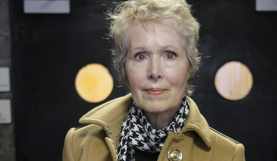 In this March 4, 2020, file photo, E. Jean Carroll arrives at court in New York. Carrolls's attorney believes that when the Supreme Court decided that the presidency isn't a shield against a New York prosecutor's criminal investigation, the same principle would apply to civil matters. He contends that Carroll's defamation case against the president should be able to move forward. (AP Photo/Seth Wenig, File)