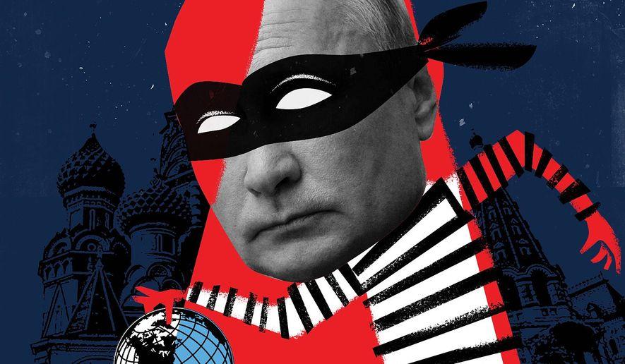 Illustration on Putin by Linas Garsys/The Washington Times