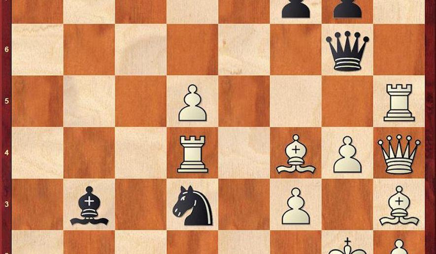 Bernadskiy-Shabalov after 36. Re5-h5.