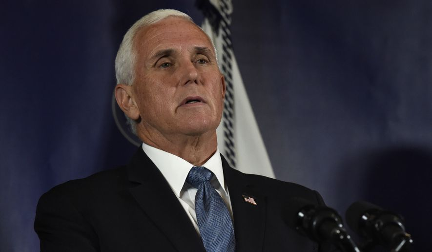 Vice President Mike Pence speaks at a coronavirus briefing with South Carolina Gov. Henry McMaster on Tuesday, July 21, 2020, in Columbia, S.C. (AP Photo/Meg Kinnard)