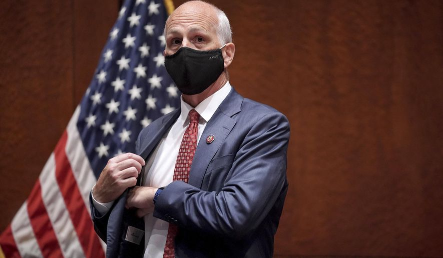 House Armed Services Committee Chairman Adam Smith, D-Wash., arrives for a House Armed Services Committee hearing on Thursday, July 9, 2020, on Capitol Hill in Washington. (Greg Nash/Pool via AP) **FILE**