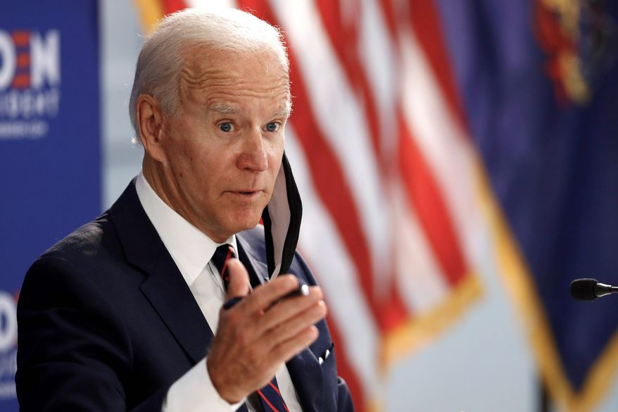 """Some wonder if Democratic presidential candidate Joseph R. Biden's """"double-digit"""" lead over President Trump is beginning to fade. (Associated Press)"""